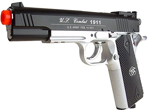 WG Airsoft Pistol 1 500 FPS NEW WG AIRSOFT FULL METAL M 1911 GAS CO2 HAND GUN PISTOL w/ 6mm BB BBs