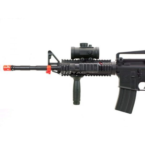 BBTac Airsoft Rifle 7 BBTac M83 Full and Semi Automatic Electric Powered Airsoft Gun Full Tactical Accessories Ready to Play Package