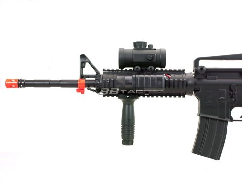 BBTac  7 BBTac M83 Full and Semi Automatic Electric Powered Airsoft Gun Full Tactical Accessories Ready to Play Package
