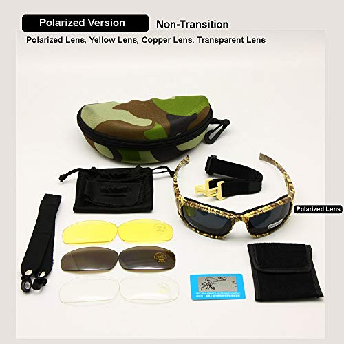 EnzoDate Airsoft Goggle 7 EnzoDate Daisy x7 Polarized Outdoor Tactical Sunglasses Windproof Military 4 Lens Kit Tactical Goggles