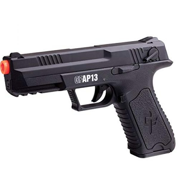 Game Face Airsoft Pistol 3 GameFace GFAP13 AEG Electric Full/Semi-Auto Airsoft Pistol With Battery Charger, Speed Loader And Ammo, Black