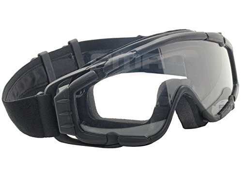 FMA Airsoft Goggle 7 AIRSOFT PAINTBALL OPS CORE JUMP FAN ANTI FOG CLEAR SI GOGGLES GLASSES BLACK SWAT