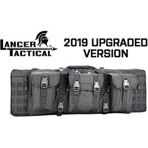 """Lancer Tactical Rifle Case 1 Lancer Tactical 48"""" Double Gun Bag 600D PVC MOLLE Belt Rifle Bag"""