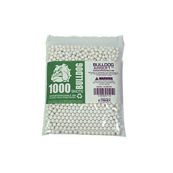 BULLDOG AIRSOFT Airsoft BB 3 Bulldog - [1000] Airsoft Pellets [0.20g] Biodegradable [6mm White] Triple Polished [Pro Team Grade]
