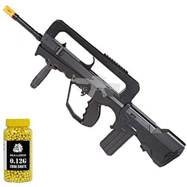 Double Eagle Airsoft Rifle 1 Double Eagle A&N Tactical M46A1 Powerful Spring Airsoft Gun Assault Rifle FAMAS Styled and 2000 BBS