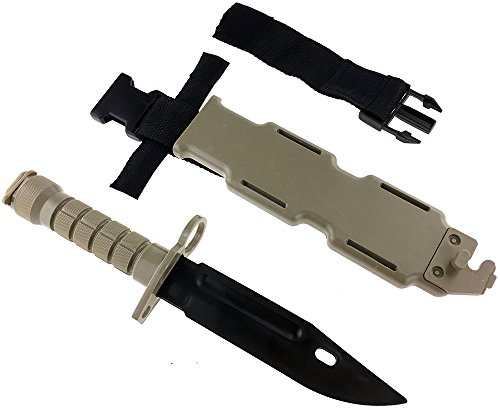 SportPro Airsoft Tool 5 SportPro Rubber Combat Knife M9 Style for Training Airsoft Dark Earth