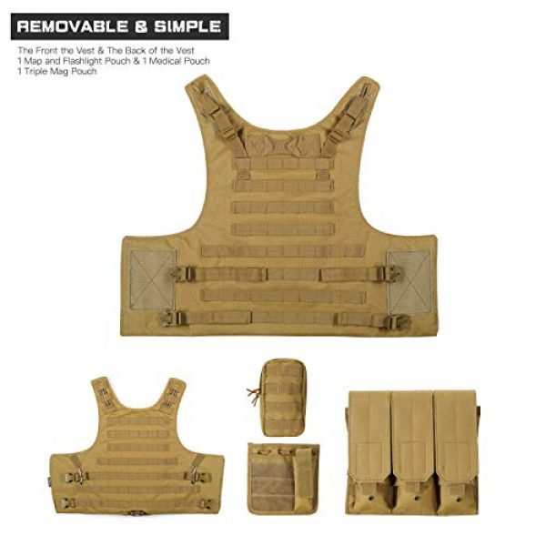 GZ XINXING Airsoft Tactical Vest 5 GZ XINXING 100% Full Refund Assurance Tactical Airsoft Vest