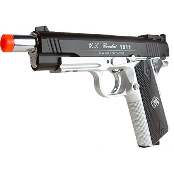 WG Airsoft Pistol 5 500 FPS NEW WG AIRSOFT FULL METAL M 1911 GAS CO2 HAND GUN PISTOL w/ 6mm BB BBs,Heavy Weight Realistic 1:1 Scale