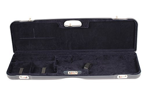 Negrini Cases Airsoft Gun Case 1 Negrini Cases 1657LR/5162 Luxury Shotgun Case for High Rib/1 Gun/1 Barrel up to 36-Inch/ABS/Barrel Vertical with Forend Off