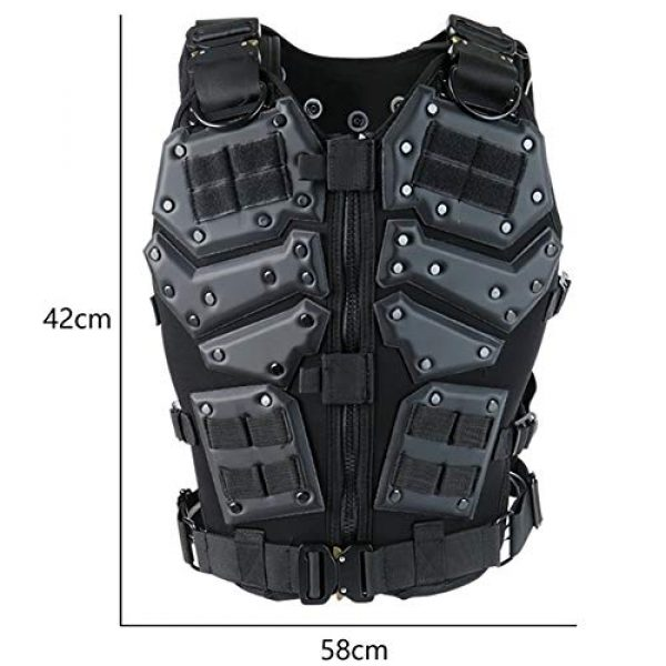 Shefure Airsoft Tactical Vest 3 Shefure Airsoft Tactical Vest Black Swat Body Armor Hunting CS Wargame Paintball Vest Waistcoat with 5.56 Magazine Pouches