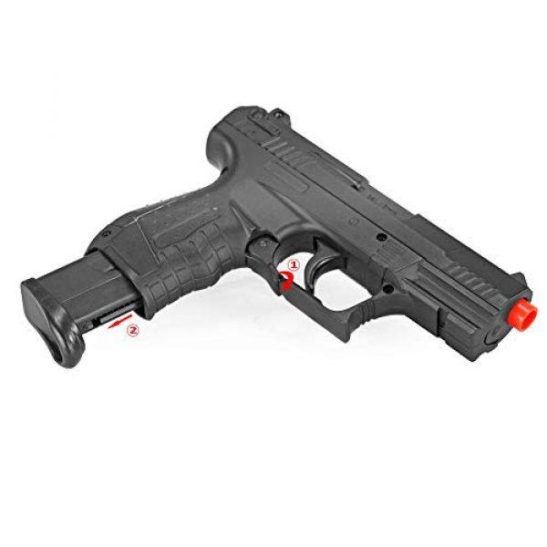 BBTac Airsoft Pistol 6 BBTac Airsoft Pistol - Metal Slide Airsoft Gun Spring Powered 240 FPS, Metal Alloy Construction (Black)