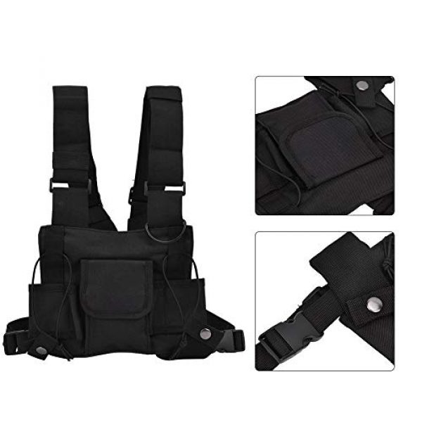 Alomejor Airsoft Tactical Vest 6 Alomejor Airsoft Vest Paintball Airsoft Protector Training Vest Waistcoat for Outdoor Camping Fishing Hiking Airsoft War Game
