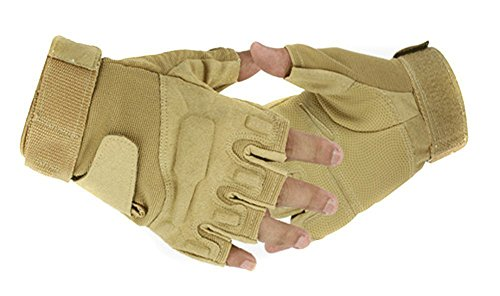 Eforcase Airsoft Glove 1 Eforcase Outdoor Sports Military Half-finger Fingerless Tactical Airsoft Hunting Riding Cycling Gloves Black Green Camel Available (Camel