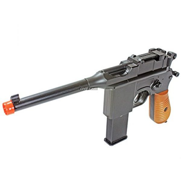 BBTac Airsoft Pistol 1 BBTac BT-712 World War II 165 FPS C96 Metal Zinc Alloy Airsoft Pistol with Magazine