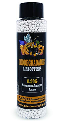 Killer Bee Airsoft Airsoft BB 1 Biodegradable Airsoft BBS 0.20g 6mm BBS 4