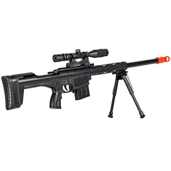 BBTac Airsoft Rifle 5 BBTac Airsoft Sniper Rifle Gun - Powerful Spring Loaded Shoots 6mm BBS Easy to use, Great for Starter Pack Game Play