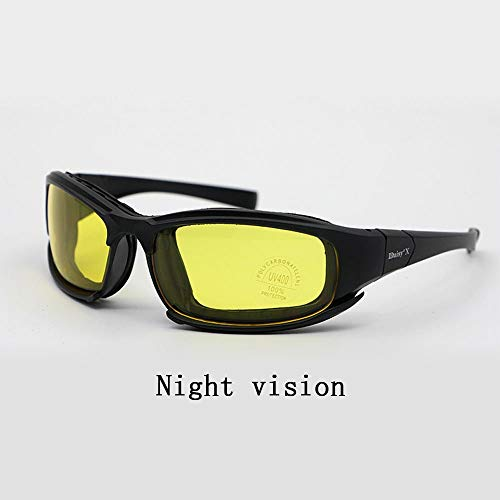 ZoliTime Airsoft Goggle 4 Daisy x7 Polarized Outdoor Tactical Sunglasses Windproof Military 4 Lens Kit Tactical Goggles