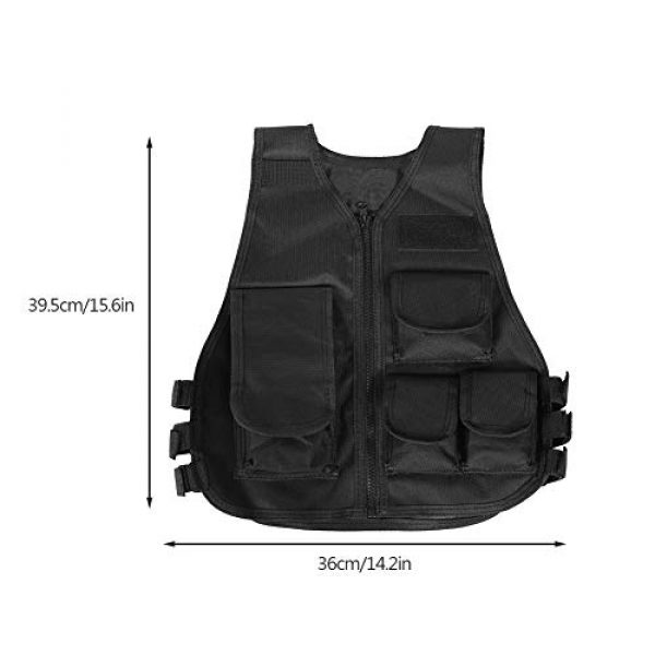 VGEBY Airsoft Tactical Vest 4 Tactical Vest, Adjustable Breathable Lightweight Combat Training Vest Outdoor Hunting, Fishing, Army Fans, CS War Game, Survival Game, Combat Training