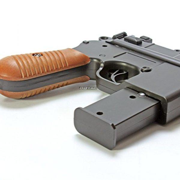 BBTac Airsoft Pistol 4 BBTac BT-712 World War II 165 FPS C96 Metal Zinc Alloy Airsoft Pistol with Magazine