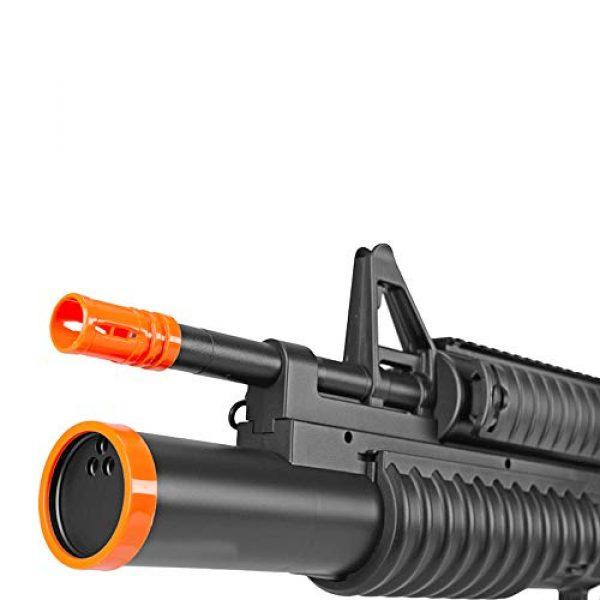 BBTac Airsoft Rifle 5 BBTac Airsoft Gun Electric Rifle Full Auto with Burst 3 Round Launcher, Rail System, Powerful AEG Shoot 6mm BBS