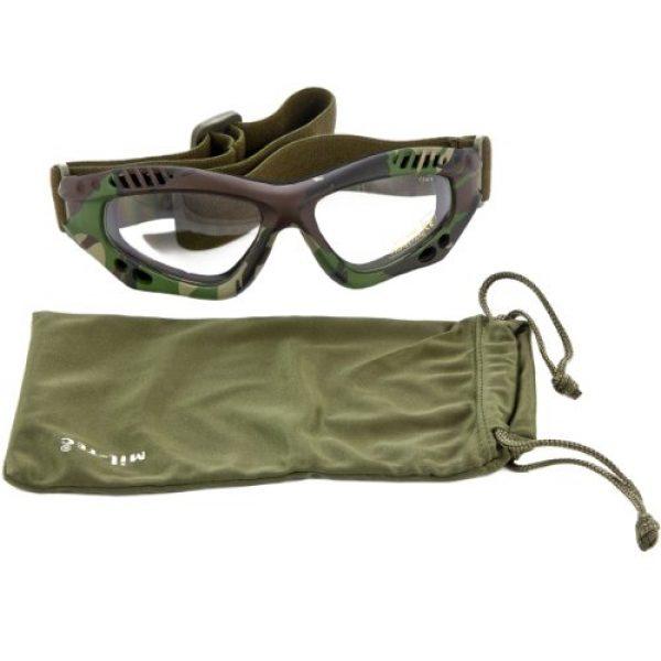 Miltec Airsoft Goggle 3 Mil-Tec Commando Goggles Air Pro Clear Lens Woodland Frame