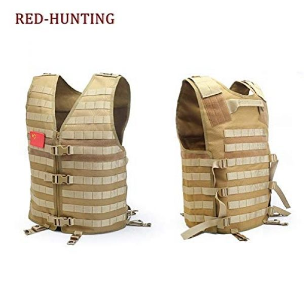Shefure Airsoft Tactical Vest 3 Shefure Men's Molle Tactical Vest Hunting Gear Load Carrier Vest Sport Safety Vest Hunting Fishing with Hydration System