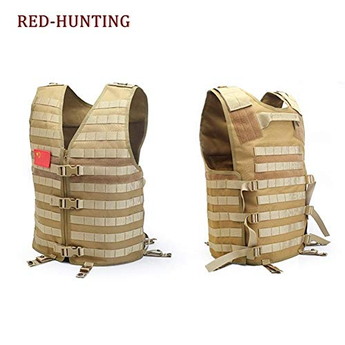 Shefure  3 Shefure Men's Molle Tactical Vest Hunting Gear Load Carrier Vest Sport Safety Vest Hunting Fishing with Hydration System