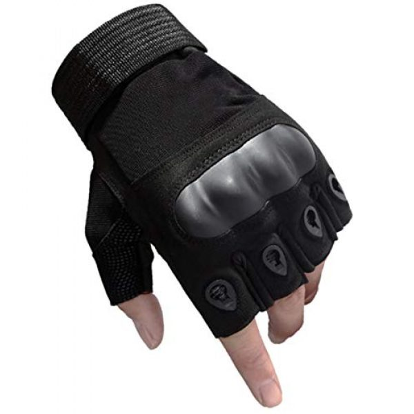 WELOVEHOME Airsoft Glove 1 WELOVEHOME Tactical Gloves Fingerless Hard Knuckle for Military Combat Hiking Cycling Motorcycle Climbing Outdoor Camping Paintball Sports Airsoft Gloves
