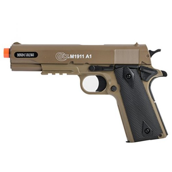 Colt Airsoft Pistol 1 Colt Soft Air Spring Pistol with Metal Slide, Tan