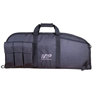 Smith & Wesson Airsoft Gun Case 1 Smith & Wesson M&P Duty Series Padded Gun Case with Ballistic Fabric Construction and External Pockets for Shooting, Range, Storage and Transport