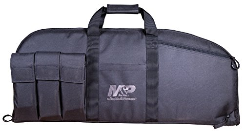 Smith & Wesson Airsoft Gun Case 1 Smith & Wesson M&P Duty Series Padded Gun Case with Ballistic Fabric Construction and External Pockets for Shooting