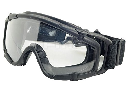 FMA Airsoft Goggle 2 FMA Airsoft Paintball OPS CORE Jump Helmet Rail Clear SI Goggles Glasses Black SWAT