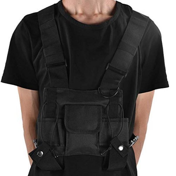 Alomejor Airsoft Tactical Vest 7 Alomejor Airsoft Vest Paintball Airsoft Protector Training Vest Waistcoat for Outdoor Camping Fishing Hiking Airsoft War Game