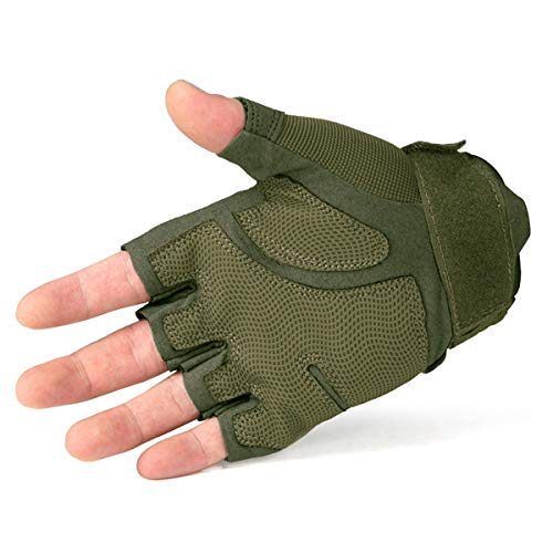 FREE SOLDIER Airsoft Glove 2 FREE SOLDIER Outdoor Half Finger Safety Heavy Duty Work Gardening Cycling Gloves