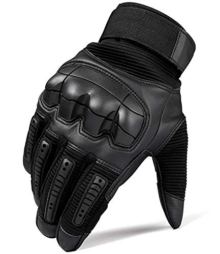 SHAWINGO Airsoft Glove 2 SHAWINGO Touch Screen Tactical Army Military Rubber Hard Knuckle Gloves for Motorcycle Cycling Hunting Airsoft Paintball Shooting