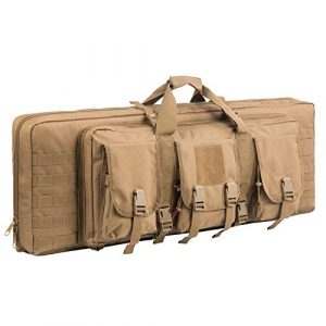 Fox Tactical Airsoft Gun Case 1 Fox Tactical 38 42 Inch Double Long Rifle Gun Case Bag Outdoor Tactical Carbine Cases Water Dust Resistant Fireproof for Hunting Shooting (Tan