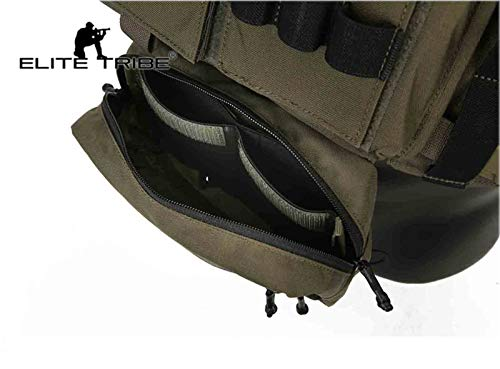 Elite Tribe Airsoft Tactical Vest 6 Elite Tribe MK3 Modular Lightweight Chest Rig Micro Fight Chissis 5.56 Mag Pouch