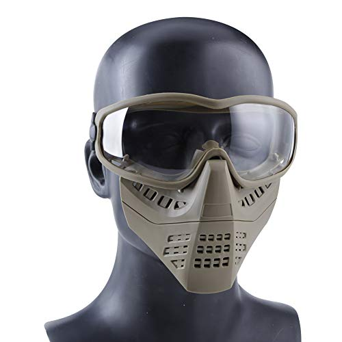 Aoutacc Airsoft Goggle 2 Aoutacc Airsoft Goggles Removable Face Mask