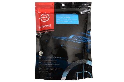 """GoldenBall Airsoft BB 1 0.36g GoldenBall Biodegradable MaxSlick Seamless Airsoft BBs - 1Kg Bag-GoldenBall 0.36G """"MaxSlick"""" Precision Grade Airso"""