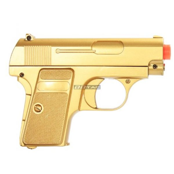 BBTac Airsoft Pistol 5 bbtac gold and black dual 618 airsoft sub-compact pocket pistols 110 fps spring concealable gun with storage case(Airsoft Gun)