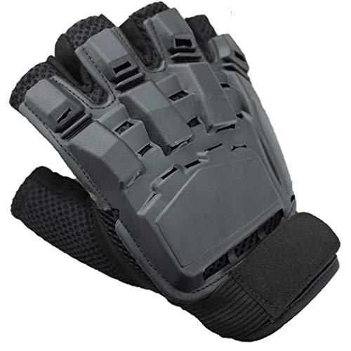 SUKRAGRAHA Airsoft Glove 1 SUKRAGRAHA Tactical Half-Finger Paintball Airsoft Gloves Black L