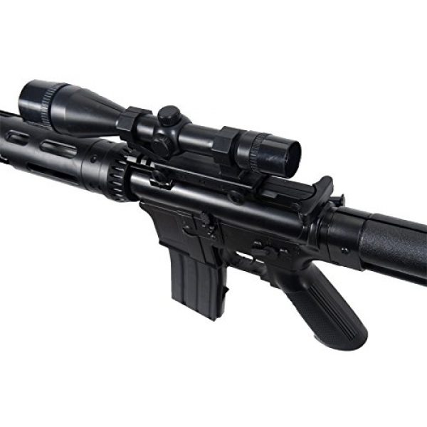 UKARMS Airsoft Rifle 4 UKARMS P1136 Marksman Sniper Spring Airsoft Rifle & Pistol Combo Gun Set FPS 260, Black