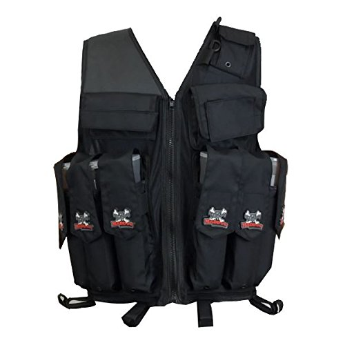 Maddog Airsoft Tactical Vest 5 Maddog Tactical Attack Vest w/Pods & Standard Remote Coil Paintball Package