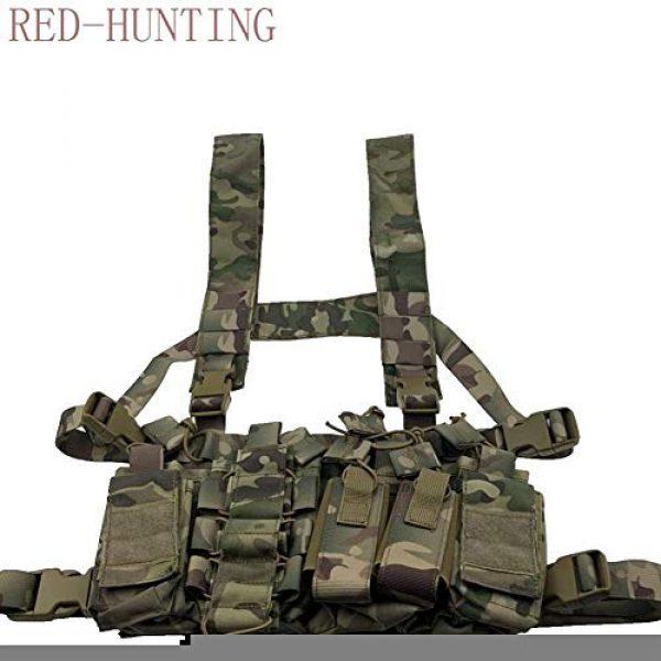 Vioaplem Airsoft Tactical Vest 2 Vioaplem Multicam Tactical Molle Vest Ammo Chest Rig Removable Hunting Airsoft Paintball Gear Vest with AK 47/74 Magazine Pouch