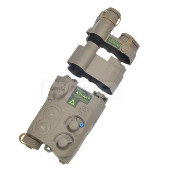 H World Shopping Airsoft Battery 2 H World Shopping Tactical Airsoft an/ PEQ16 Battery Case DE Dummy AEG with RIS Mount