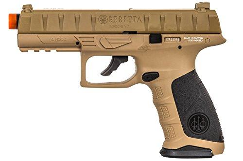 Elite Force Airsoft Pistol 4 Elite Force Beretta APX CO2 Blowback Pistol Airsoft Gun (FDE)