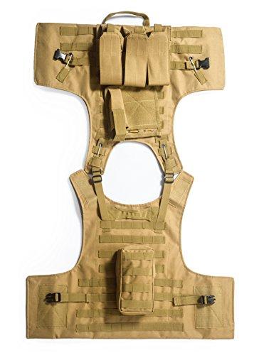 Invenko Airsoft Tactical Vest 4 Invenko Tactical Molle Airsoft Vest Paintball Combat Soft Vest Tan