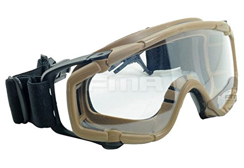 FMA Airsoft Goggle 7 FMA Airsoft Paintball OPS CORE Jump Helmet Rail Clear SI Goggles Glasses TAN Sand DE