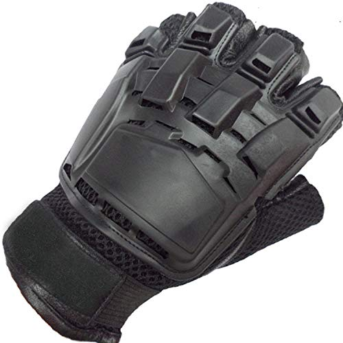 SUKRAGRAHA Airsoft Glove 2 SUKRAGRAHA Tactical Half-Finger Paintball Airsoft Gloves Black L