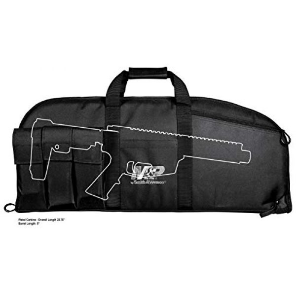 Smith & Wesson Airsoft Gun Case 3 Smith & Wesson M&P Duty Series Padded Gun Case with Ballistic Fabric Construction and External Pockets for Shooting, Range, Storage and Transport